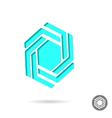 Hexagonal design sign vector image vector image