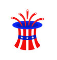 independence day america ornament vector image vector image