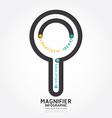 infographics magnifier design diagram line vector image