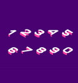 isometric olored numbers vector image vector image