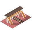 isometric overpass vector image vector image
