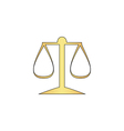 justice scale computer symbol vector image