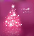 Lighted up Christmas tree with many lensflares on vector image vector image