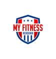 logo my fitness academy vector image