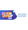 low code development concept banner header vector image vector image