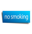 no smoking blue paper sign on white background vector image vector image