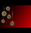 ornamental banner christmas colorful ribbon bows vector image