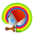 painting a house symbol vector image vector image