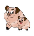 pig character farm animal domestic image vector image vector image
