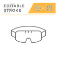 protective goggles line icon vector image vector image
