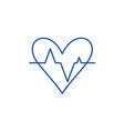 pulse line icon concept pulse flat symbol vector image