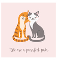 Purrfect pair vector image vector image