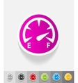 realistic design element speedometer vector image