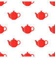 red teapotseamless pattern vector image vector image