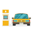 refuel car at gas station concept flat vector image vector image