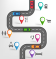 road infographic travel background with pointers vector image vector image