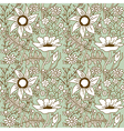 Seamless texture with flowers Endless floral vector image vector image