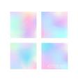 set 4 pastel colors gradient background designs vector image