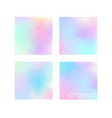 set of 4 pastel colors gradiend background designs vector image