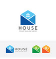 simple house logo vector image vector image