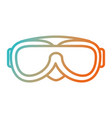 snorkel googles isolated icon vector image vector image