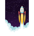 space rocket flying in space vector image
