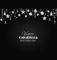 sparkling christmas glitter ornaments silver vector image vector image
