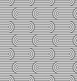 Striped curved seamless pattern vector image vector image