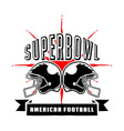 Superbowl And Football Badge Hand Draw vector image vector image