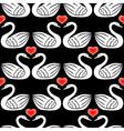 swan pattern black vector image vector image