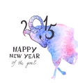 The Goat - a New Year Symbol of 2015 vector image vector image