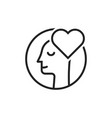 thin line lover man black logo vector image vector image