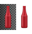 tomato ketchup spicy chili sauce isolated bottle vector image