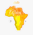 Travel around the world Africa Watercolor map vector image vector image
