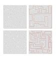 two different mazes high complexity on white vector image