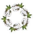 Watercolor cotton wreath vector image vector image