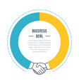 website banner and landing page business deal vector image vector image