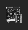 wooden furniture chalk white icon on black vector image
