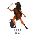 zodiac in style ancient greece leo greek vector image