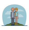 couple teacher profession of bearded man with vector image
