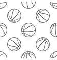 basketball ball seamless pattern sport symbol vector image