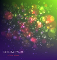 Abstract Colorful Background with Magic Particles vector image vector image