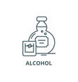 alcohol line icon alcohol outline sign vector image vector image