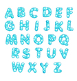 Alphabet with bubbles vector image