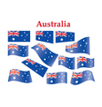 Australia flags vector | Price: 1 Credit (USD $1)