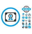 Award Diploma Flat Icon with Bonus vector image vector image