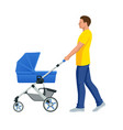 baby carriage isolated on a white background kids vector image