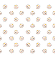 bafaces pattern on white background vector image