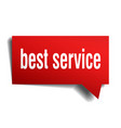 best service red 3d speech bubble vector image vector image