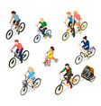bike riders character set vector image vector image